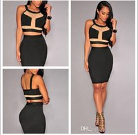 Wholesale Tight Mini Dress Sexy Lingerie - sexy lingerie underwear Tight Package hip Piece Club clothing bodycon pencil dress women bandage dresses N197