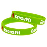 Wholesale Crossfit Wristbands - Hot Sell 1PC Reedbok Crossfit Silicon Wristband Bracelet Debossed Logo And Ink-Filled Colour Adult Size 4 Colours