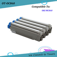 Wholesale toner cartridge pages for sale - OKI C860 Compatible Toner Cartridge for OKI MC860 BK C M Y pages