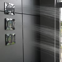 ingrosso getti d'acqua per massaggi corpo-Nuovi disegni Doccia Body Jets 130 x 130mm Brass Massage Spray Doccia prodotti per doccia / Doccia a pioggia