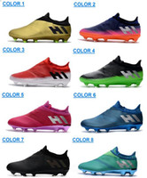 Wholesale messi 16 pureagility boots online - 2017 Mens Messi Pureagility FG AG Football Shoes Soccer Shoes Top Quality For Sale Men Soccer Cleats Cheap Sports Soccer Boots