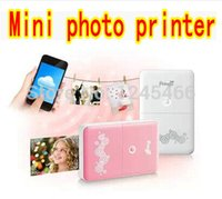 Wholesale Mini Printers For Phones - Wholesale- Pringo P231 smart mini pocket photo and picture printer instant print directly with wifi for IOS android smart phones tablet