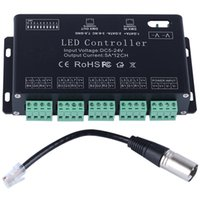 Wholesale Dmx Rgb Led Strip Decoder - DC5V-24V 12Channel RGB DMX LED controller DMX decoder&driver LED strip module LED Decoder Driver Strip Module Black