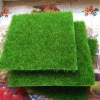 Wholesale artificial moss - Wholesale-Micro Simulation Creative Landscape Ecological Lawn Decorative Bottle Fake Moss Green Artificial Plants Grass Moss 15x15cm