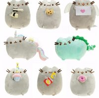 Wholesale Cookie Girl - 15cm Pusheen Cats Plush Toys Dolls Cookie Doughnut Stuffed Plush Animals christmas Toys for Girls Soft Stuffed Animals Toys KKA3018