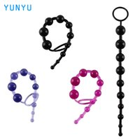 Wholesale Orgasm Balls - Anal Toy Color Jelly Anal Beads Sex Orgasm Vagina Plug Play Pull Ring Ball Anal Stimulator Butt Beads for Women 17403