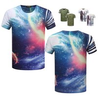 Wholesale Tee Front Long Back - 2017 men's t-shirts summer 3D clothing ZSIIBO Front & Back Two Side Printing Unisex t-shirt Fashion Tops T-Shirt bts abstract Tees TX88-F
