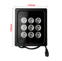 Wholesale Ir Illuminator For Camera - 9 Array LED Infrared Night Vision IR Light illuminator Lamp For CCTV Security Camera