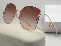 Wholesale Green Hd - new fashion brand desinger suglasses CL 136 square metal big frames Hollow legs HD unti-400 lens with original box summer style