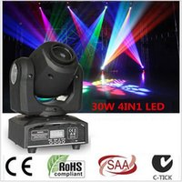 Wholesale Mini Laser Dmx - 30w 10w Mini Moving Head Led Stage Disco Dj Dmx Spot Lamp Gobo Strobe Laser Show Party Licht Soundlights Home ColorMusic Lumiere