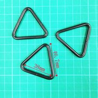 Wholesale Handbags Wholesale Manufacturers - 2017 wholesale bulk types triangle buckles metal accessories for handbags high quality black triangle ring manufacturer