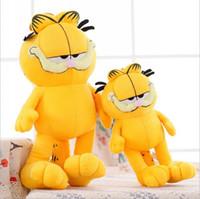 Wholesale Garfield Stuffed - Wholesale- 20CM New Arrival Cute Cartoon Figures Garfield Cat Plush Toys Soft Stuffed Dolls Gifts for Kids Girlfriends Christmas PT008