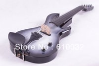 HARD WOOD Ebony 4/4 Wholesale-4 4 Electric Violin Solid wood 20--29# white and black color guitar neck 5 string