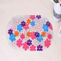 Wholesale Bathroom Cheap - Wholesale- Flowers Stone Animal PVC Bath Mat Anti-Slip Bath Mats Suitable For Bathroom Toilet Foyer Floor Carpet Cheap Christmas Gift