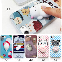 Wholesale Phone Case for iPhone S plus D Cute Soft Silicone Squishy Cat Fundas for iPhone plus Cover Animal Sleeping Kitty Coque