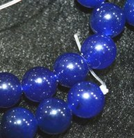 Wholesale Gemstone Loose Beads Sapphire - Rare 6 mm Natural Blue Sapphire Gemstone Round Loose Beads 15'' AAA
