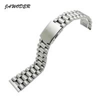 16 faixas de relógio de aço inoxidável venda por atacado-Jawewer pulseira de relógio 16 18 20 22mm pure polimento de aço inoxidável sólido + relógio escovado pulseira banda de implantação fivela pulseiras