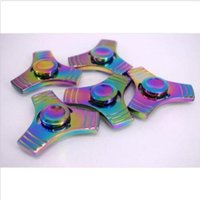 Wholesale Getting Cheaper - Hot selling 10 x Rainbow Alloy Hand Spinner Tri Fidget Focus Toy EDC Finger Spin Gyro Autism. The more you buy, the cheaper you will get