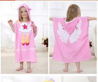 Wholesale Children Animal Robes - IDGIRL New Cartoon Animal Baby Hooded Bathrobe Infant Bath Towel Bathing Robe For Children Kids Baby Bathrobe Pajamas JY0246