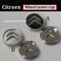 ingrosso le ruote del centro ruota emettono-60mm 2.36 pollici car emblem center copri ruota pvc auto ruota logo hup cap per PicassoC2 / C3 / C4C5 / C6 / C8 / DS3 / DS4 / DS5 / Nemo / C-Quatre C-Triomp