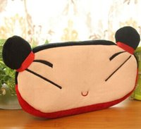 Vente en gros - Pucca China Girl 20CM Cotton School Papeterie BAG Kids Pen Pencil BAG Case Peluche; Lady Coin sac à main cosmétiques sac à main sacoche