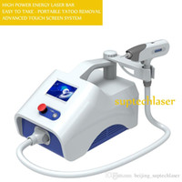 Wholesale Laser Eyebrow Machine - portable smaller qswitch laser ndyag machine for eyebrow cleaning eyeline cleaning pigment removal with free shipping