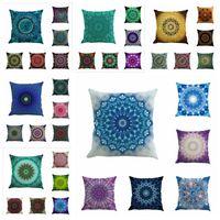 Wholesale Sofa Seat Cushion Covers Wholesale - Mandala Indian Cushion Cover Geometric Bohemia Pillowcase Linen Chair Seat Car Sofa Decorative Square 45*45cm Pillowcase YYA188