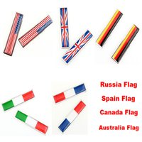 Door spain car flag - Car Auto D Sticker Russia US UK Italy France Canada Spain German Australia Flag Decoration Sticker Car Styling