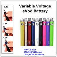 Evod Variable Voltage Battery com logotipo CE 650/900 / 1100mAh eVod Twist 3.3 ~ 3.7 ~ 4.2V VV Baterias vs Vision Spinner eGo-C para MT3 <b>CE4 H2</b> T3S