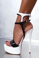 Wholesale Sexy Sandals High Platform - 2017 Summer Women High Heel 16cm Fashion Sexy Ladies Sandals Pumps Peep toe Thin Heel Ankle strap Platform Shoes Woman