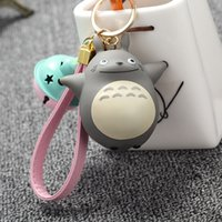 Wholesale Totoro Girl - Extremely Cute My Neighbor Totoro Chinchillidae Keychain Pendant Fit For Bag Charms Purse Accessory Miyazaki Hayao Comic Fans