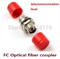 Wholesale Optical Connector Types - Fiber optical flange FC-FC fiber coupler connector adapter FC flange small type D Telecom