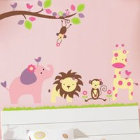 Wholesale wall stickers for kindergarten - Children Wall Stickers Kindergarten Decals Home Decor Poster for Kids Rooms Adhesive To Wall Decoration Removable with Kindergarten