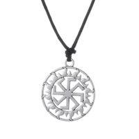 Wholesale Ethnic Fashion Jewelry China - Fashion Simple Design Slavic Kolovrat Slavonic in the Sun Long Necklace&Amulet Pagan Bijouterie China Pendant Power Necklace Ethnic Jewelry