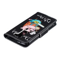 Wholesale Slotting Saw - Electric saw pig pattern Wallet Leather Case For Samsung For S5 S6 S6 EDGE S7 S7 EDGE Back Stand Holder Credit Card Holder Slot Phone Cases