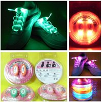 lumière de dentelle achat en gros de-10pcs (2pcs = 1pair) Boys Girls Kids Light Up LED Shoelaces Flash Party Disco Chaussures Chaussures Chaussures Free Drop shipping Stock ...