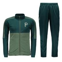 Wholesale Shirts Pants Sets - 2017 Palmeiras tracksuit green Palmeiras sweater suit long pants trainning set Uniform jacket football shirt