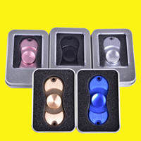 Wholesale Wholesale Bike Prices - best price Hand Spinner Toy Fidge Spinners golden Aluminum alloy Torqbar Ceramic Bearing axis EDC Finger Tip Rotation anxiety Toy OTH349