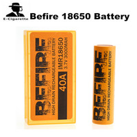 Wholesale cigarette rechargeable torch - Befire 18650 Battery 2100mAh Rechargeable Battery 30A 3.7V Work for iJoy Captain PD270 E-cigarettes Mod and Flashlight Torch 2pcs pack