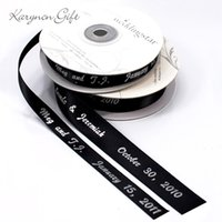 Wholesale Selling Wedding Favors - 7 8''(23mm) Hot Sell personalized ribbon for favors Design Ribbon Wedding ribbon for sale 100yard lot