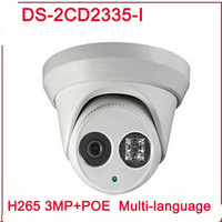 Wholesale Ip Camera Poe Wireless - New arrival DS-2CD2335-I replace DS-2CD2332-I 3mp 30m IR Network Dome security CCTV poe ip camera H265 IPC