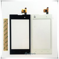 Wholesale iq iphone - Wholesale- Mobile Phone Touchscreen For Fly IQ4418 era style 4 IQ 4418 Touch Screen Digitizer Panel Front Glass Lens Sensor With Stickers