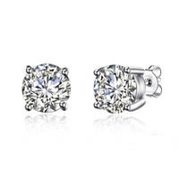 ingrosso gioielli imitazione pietre-Orecchini in argento sterling 100% Orecchini con perno in pietra 8M Zirconi europei con diamanti a imitazione calda Gioielli con diamanti Regali di nozze