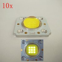 Wholesale Taiwan Beads Wholesale - Wholesale- High quality 10pcs 60mil Taiwan LUSTROUS 10W COB LED Light Chip with 170 degree lens white warm nature white Light beads