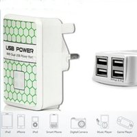 Wholesale Camera Car For Sale - Wholesale- Hot Sale UK Plug Multi Adapter 4 Port USB Travel Charger Wall Charger for Most Cell Phone