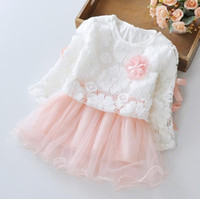 Wholesale Chiffon Dresses For Dinner - girls dinner dresses flora hot items for 80-100cm lovely baby lace party summer celebrate birthday party dress