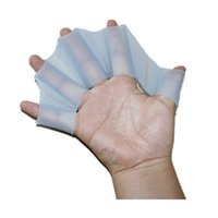 Morbido silicone Pinne per nuoto Flippers Frog Hand Swim Web Webbed Glove Multi Size Training Paddle Dive Utile