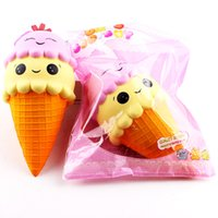 Wholesale apple gift ideas - New Large Ice Cream Squishies Kawaii Squishy Slow Rising Phone Squishies Cute Squishies Jumbo Fidget Toys Phone Charms Gift Ideas DHL