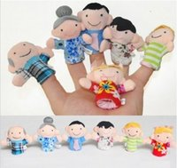Wholesale Cheap Puppets For Children - Wholesale-2014 New 6pcs Family Hand Finger Puppets Toys Brand Cheap Cute Puppets Gifts For Children