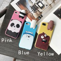 Novità 3D Cute Panda Polar Bear Brown Bears Custodia protettiva in silicone Cover per iPhone Iphone 6 / 6s / 6 plus / 6s plus / 7 / 7plus